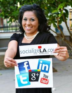 margaret hernandez, anroma, socializeLA, social media expert, customer service